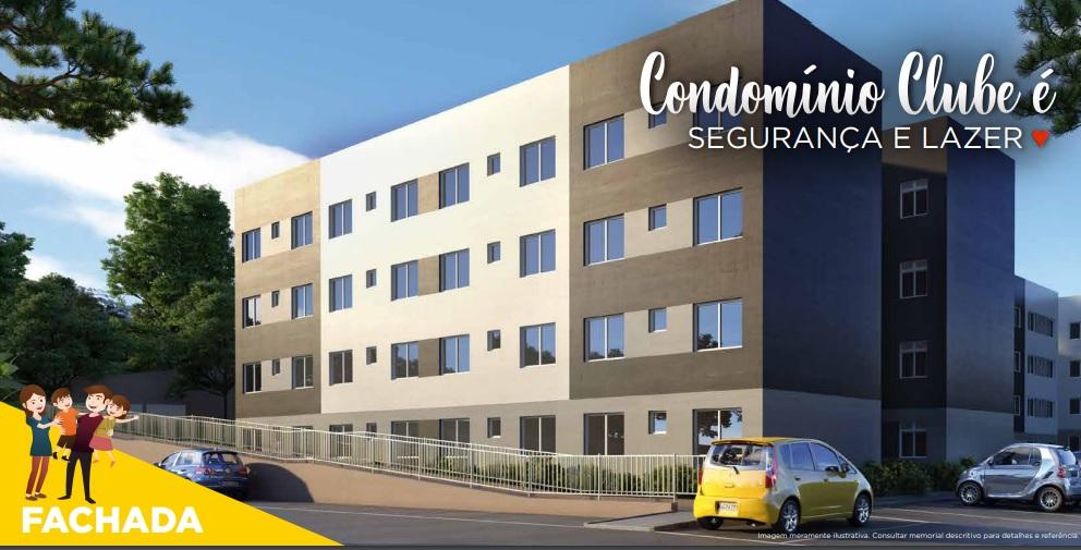Apartamento Novo Condomínio Clube 2 Dorm. 1 Vaga Campo Largo